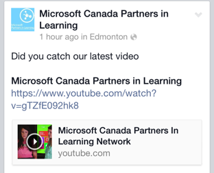 Honoured to be highlighted on Microsoft's Facebook page in Sept of 2013.