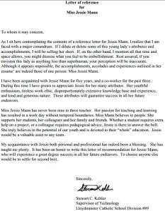 Past Reference Letter from Stewart Kehler