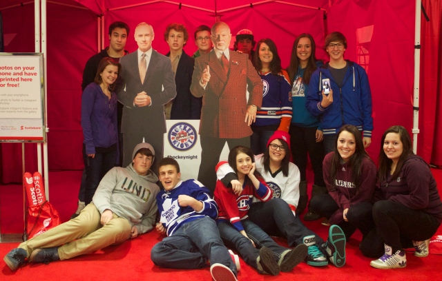 Group Photo at Scotiabank Hockey Day in Canada