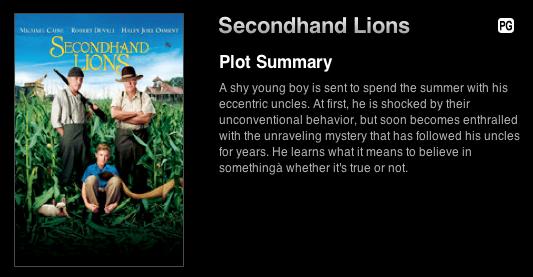Secondhand Lions « Jessie H  Mann