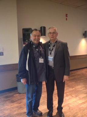 Mr. Abrosimoff with Reggie Leach!!!