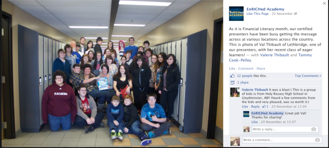 Here we are featured on the Enriched Academy Facebook page.