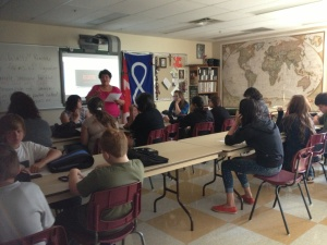 Mrs. Young and Mrs. E taught new students about smudging. We will be smudging every Friday of RaiderTime.