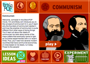 We will be watching a Communism Brain Pop. Yes this will be for marks.