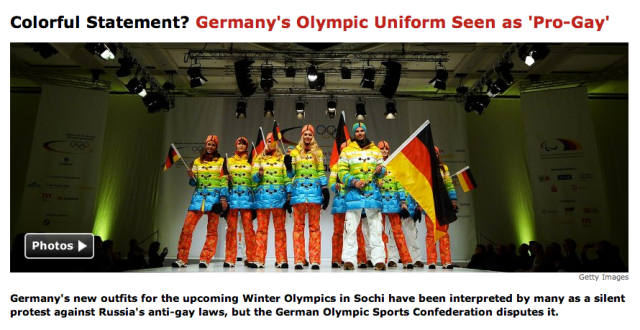 http://www.spiegel.de/international/germany/german-olympic-uniform-for-sochi-seen-as-pro-gay-protest-a-925756.html
