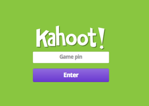 Please go to kahoot.it